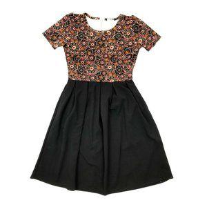 Lularoe Black Floral Fit And Flare Amelia Dress